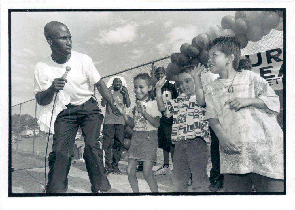 Photo taken from the Beacon Neighborhood Centers After School Program in 1998.